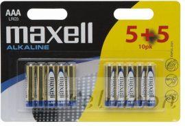 Maxell Alkaline   AAA 5+5
