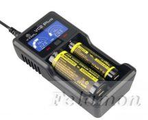 XTAR VC2 PLUS akkutöltő 2db akkuhoz (Li-ion,Ni-Mh,Ni-Cd)+Powerbank